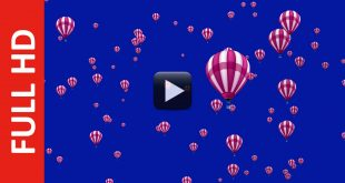 Hot Air Balloons Background Video Blue Screen Effect