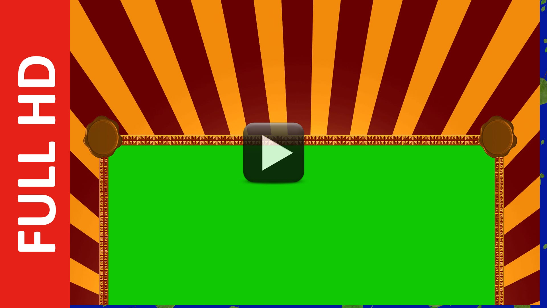 Happy Title Motion Green Screen Background Video Effect