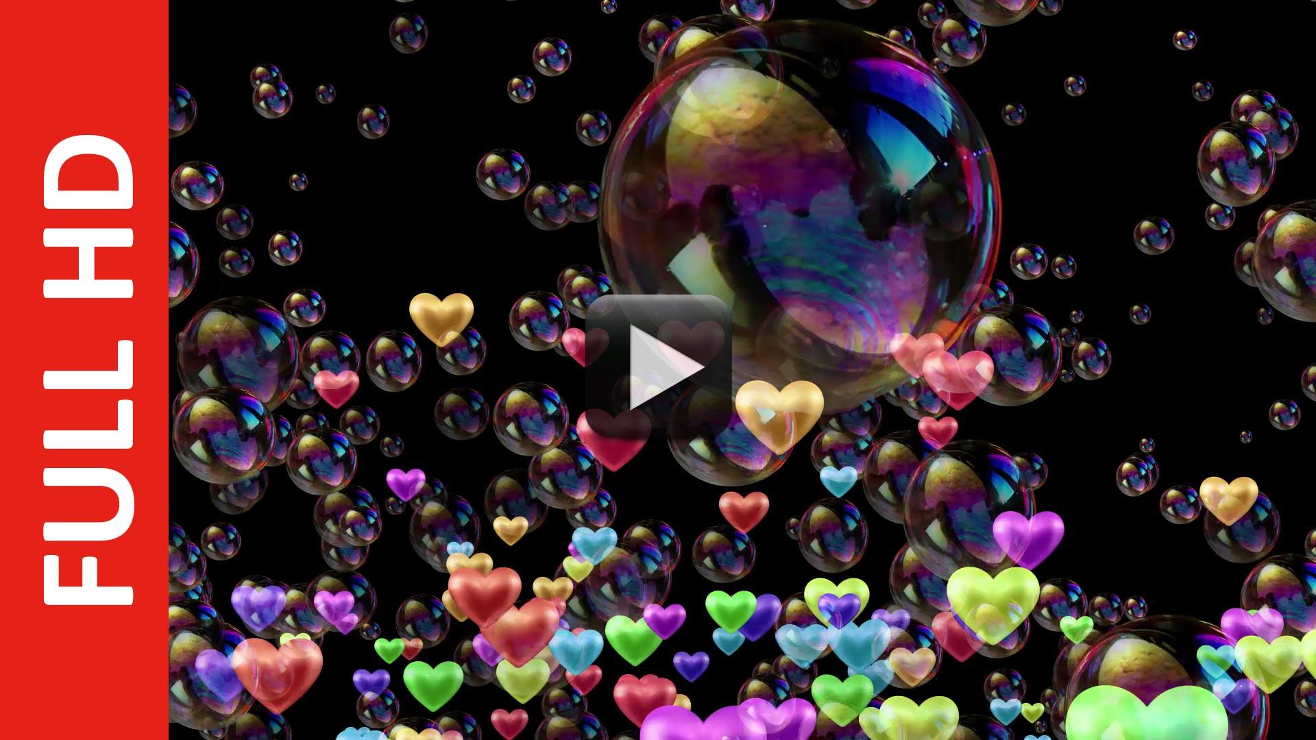 Love Bubbles Black Screen Background Video Effect All Design