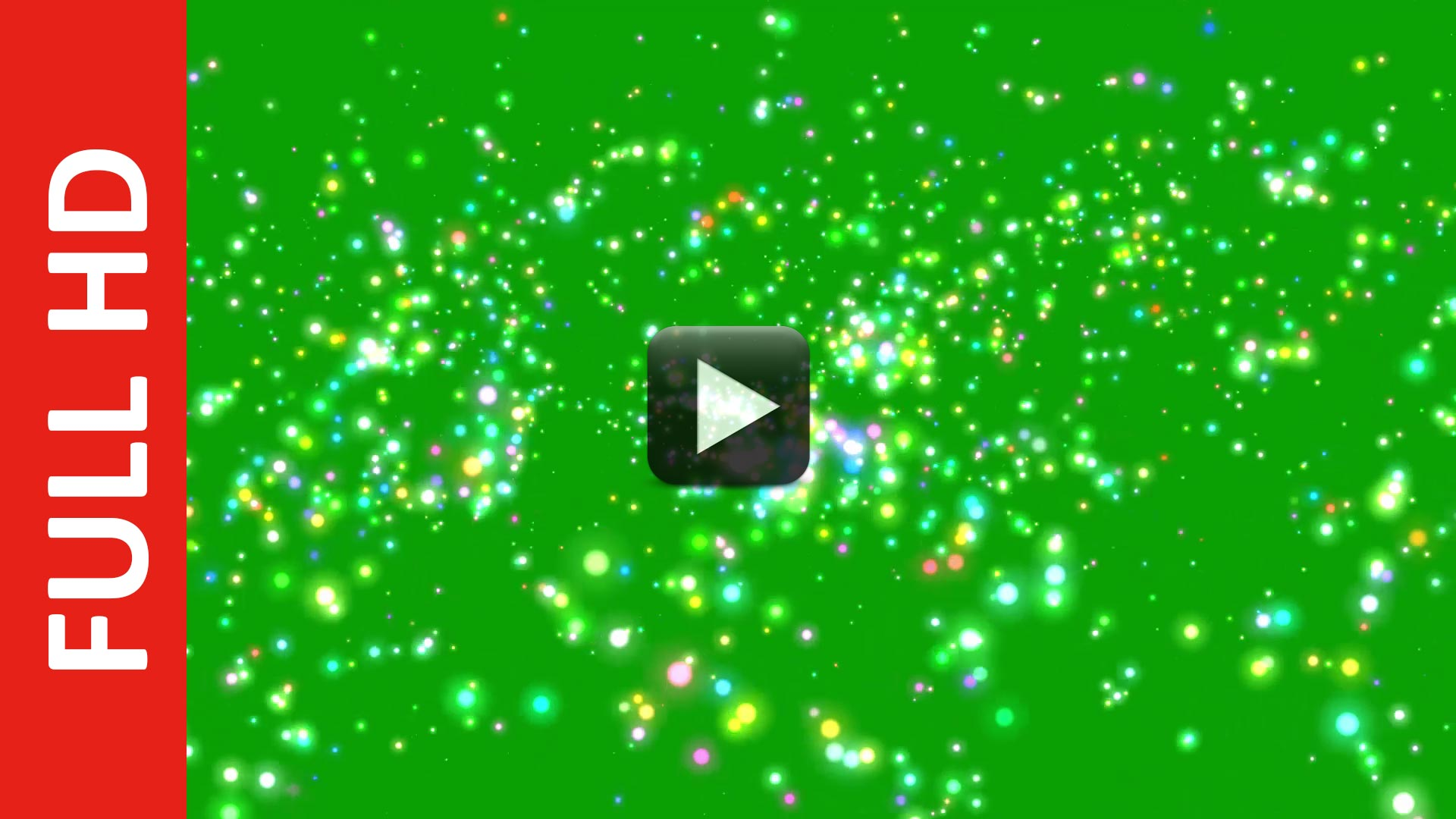 Particles Glitter Stars in the Universe Green Screen Background