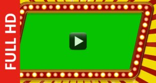 Movie Trailer Green Screen Frame Background Video