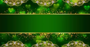 Free Green Frame Title Background Video Animation