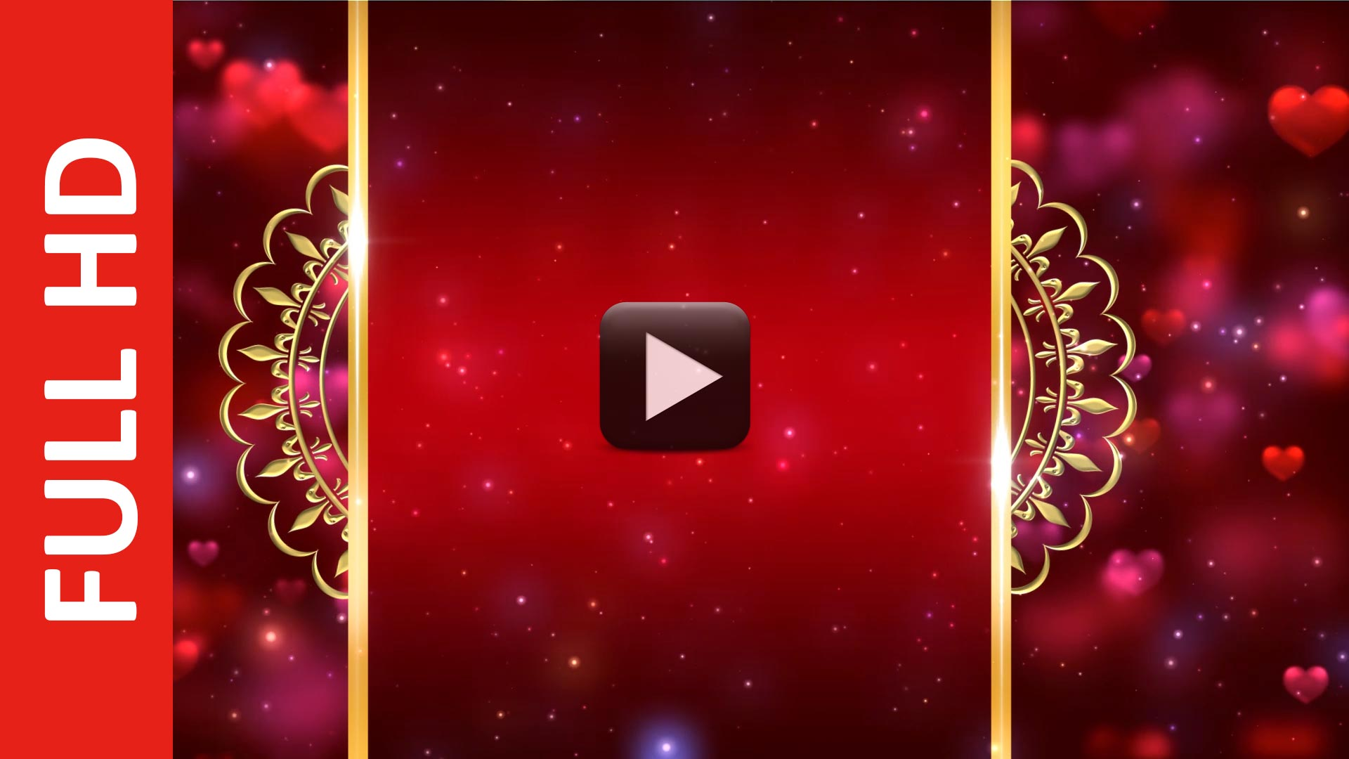 Royal Intro Title Wedding Invitation Background Video Effects HD ...