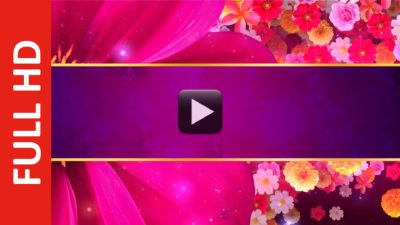 Royalty Free Flower Title Introduction Video Background