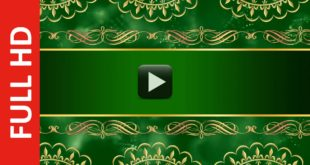 Wedding Invitation Card Design Intro Title Green Background Video HD