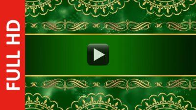 Wedding Invitation Card Design Intro Title Green Background