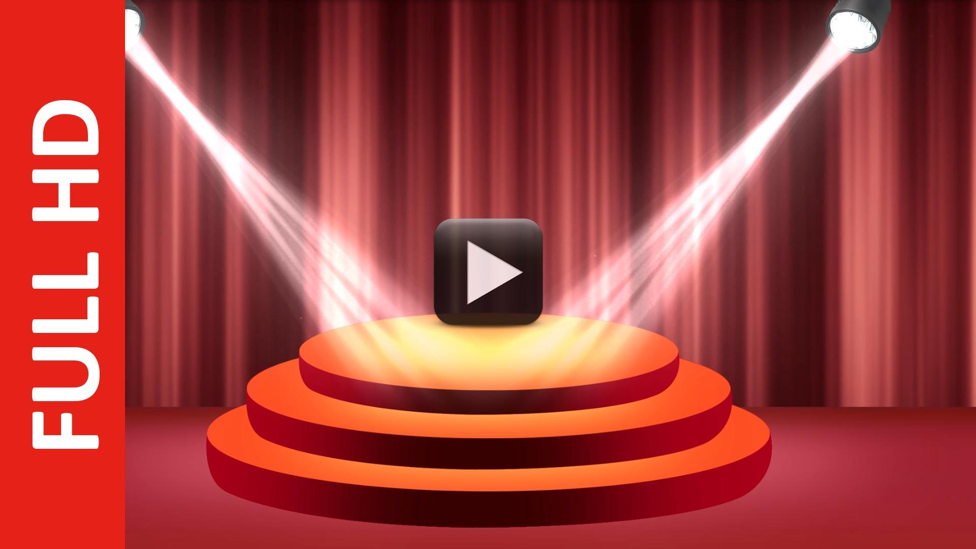 Realistic Round Stage Podium with Elegant Lightning Blinking Animation