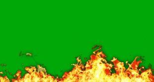 Fire Green | Blue | Black Screen Video Effect HD Footage Free Download