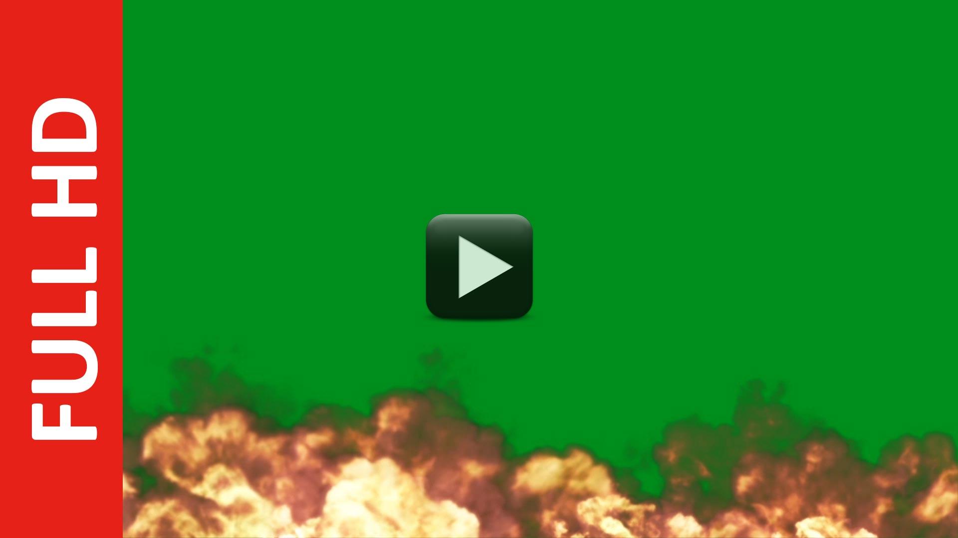 HD Fire Explosion Green Screen | Blue | Black Screen background Video Download