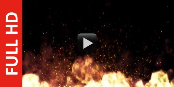 Best Fire Flames Sparks Effect on Black Background