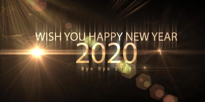 Happy New Year 2020-Wishing A New Year Greetings Motion Graphics Video-Bye Bye 2019