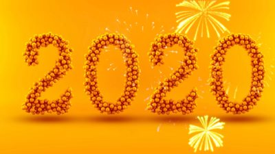 Download wallpapers Happy New Year 2020, creative art, 2020 ...