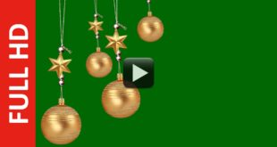 Christmas Ball Swinging Green Screen Background
