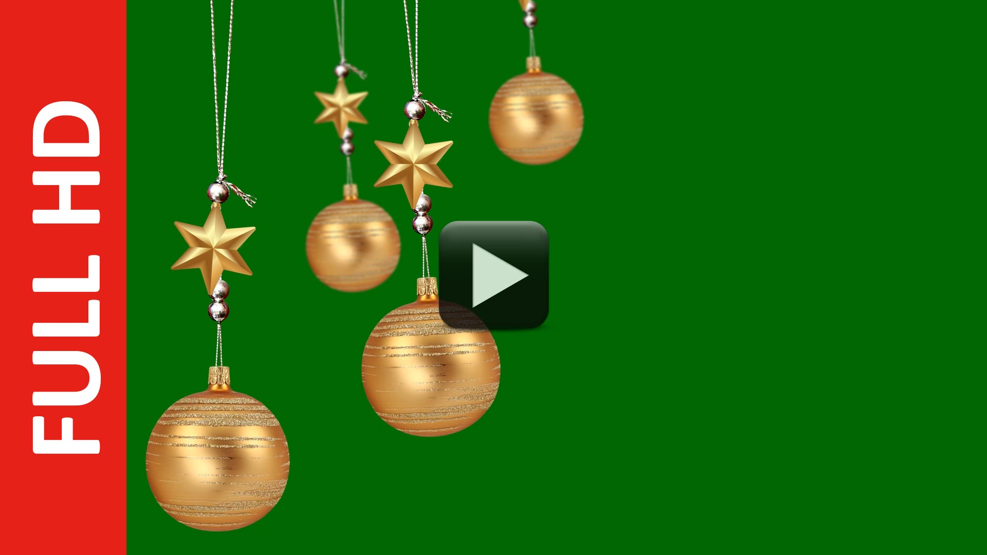 Christmas Ball Swinging Green Screen Background