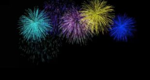 Fireworks Green Screen Black & Blue Background Video Effects HD