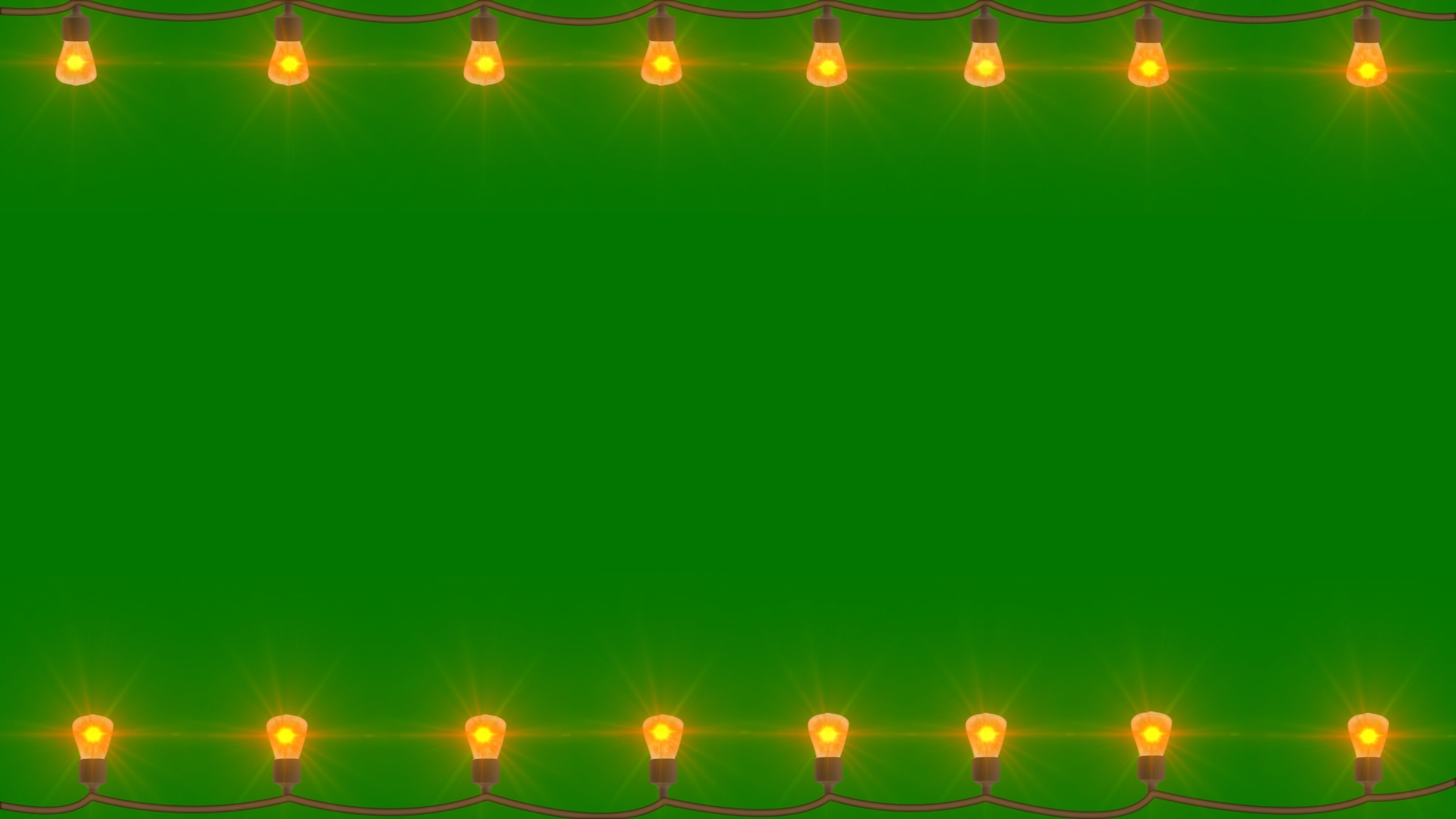 Light Blinking Black and Green Screen Video Frame Effects | Free Title Footage