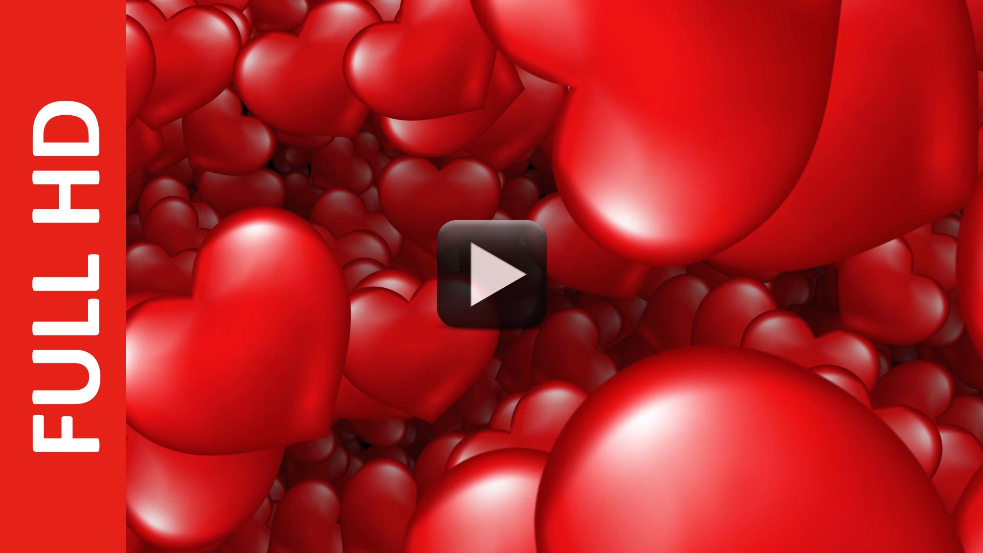 Moving Red Love Hearts Animation Background