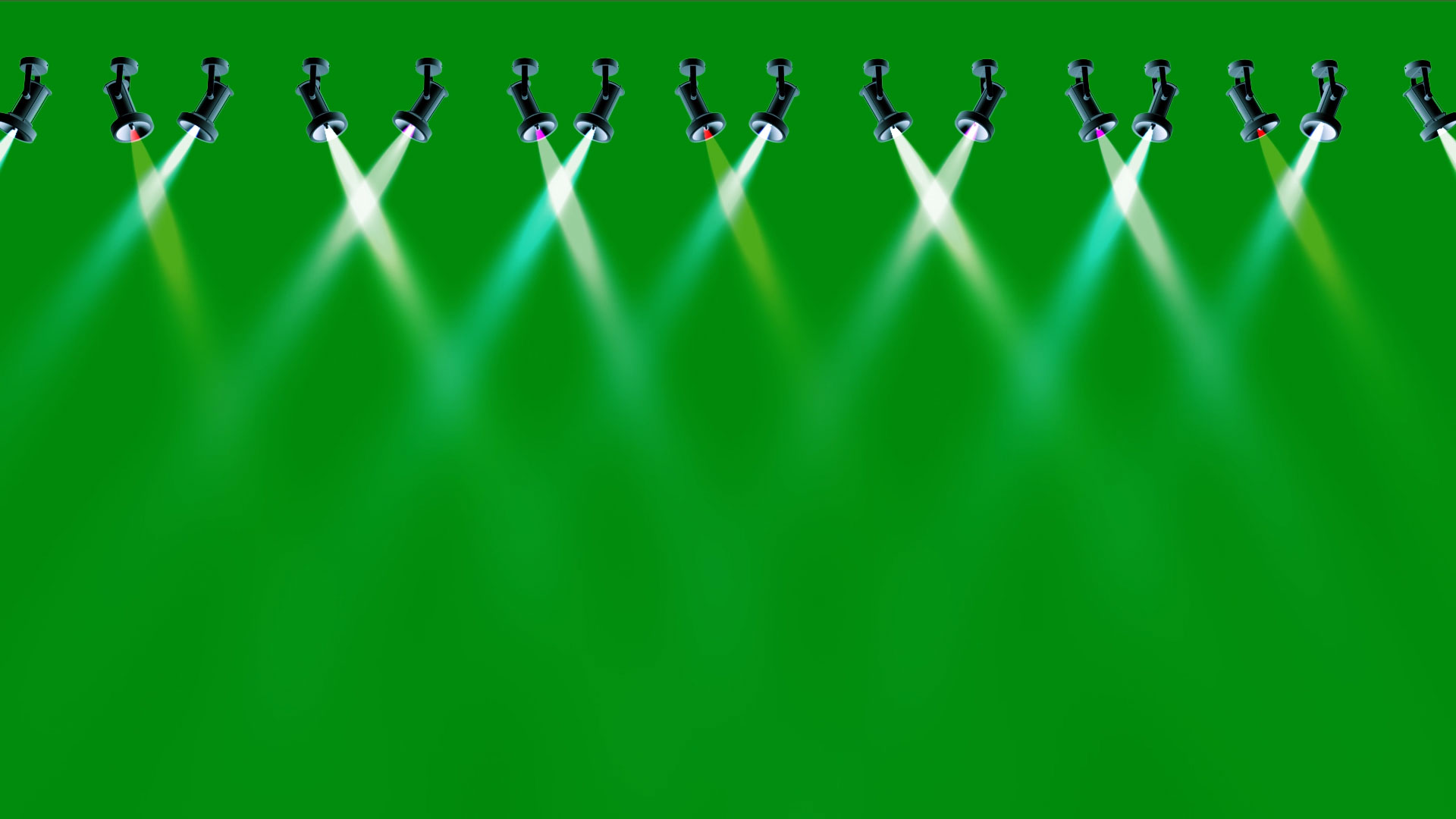 Premium Concert Stage 16 Lights Green Screen Background