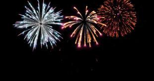 Fireworks Black Background Colorful Fireworks Background Effects Video