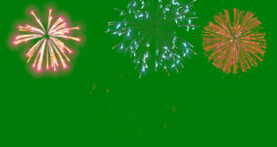 Fireworks Green Background Video Effects HD