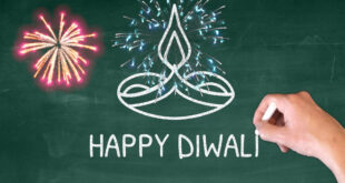 Happy Diwali Status 2020 | Happy Diwali Drawing Green Board Background | Happy Diwali Greeting Card