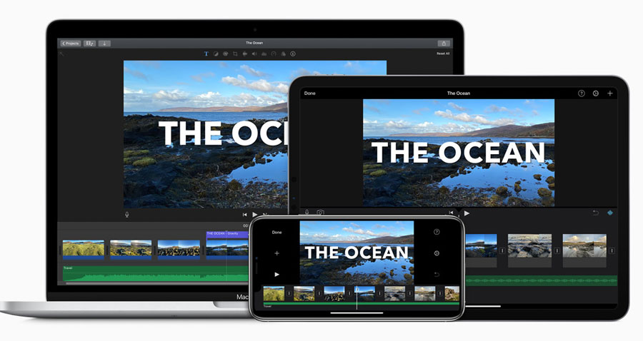 iMovie for macOS, iOS and iPadOS