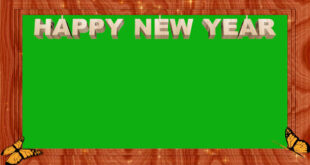 New Year Green Screen Frame | New Year Greeting Card 2021 Frame In Green Screen Background Effect HD