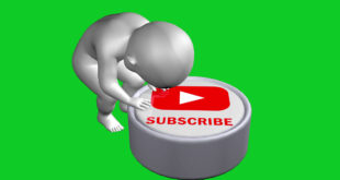3D Subscribe and Like Button Green Screen Video No Copyright Footage