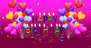 Happy Birthday Background Video | Free Happy Birthday Banner Background Video Effect HD 1080p