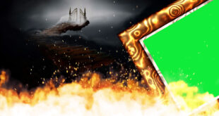 Fire Wedding Green Screen Frame
