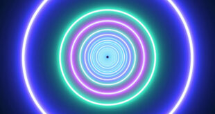 Neon Lights Circle Tunnel And Colorful Abstract Glow Particles Hd Moving Wallpaper Background