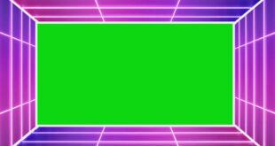 Neon Lights Tunnel Wedding Frame Green Screen Video