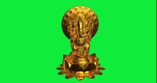 OM Ganeshaya Namaha | God Ganesh Green Screen | Golden God Ganpati Green Screen Video Effect HD
