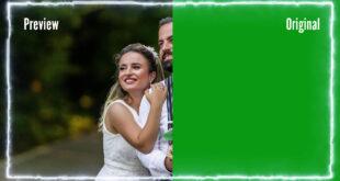 Smoke Light Effect Green Screen Wedding Frame